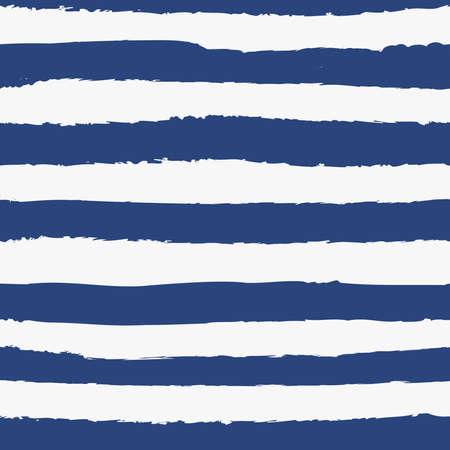 Universal gender neutral dark navy blue nautical marine coastal seamless repeat pattern with grunge torn texture jagged vector horizontal cabana stripe