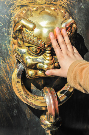 beliefs: Chinese sculpture with beliefs of people Stock Photo