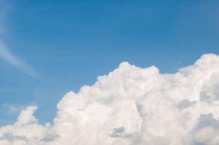 cumuli: Sky with fluffy clouds