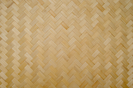 wickerwork: Bamboo Weave Basket texture and background Stock Photo