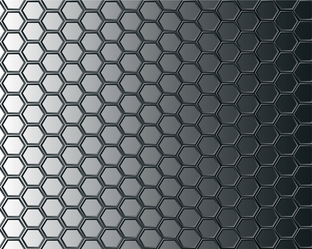 Black hexagon mesh on gray background