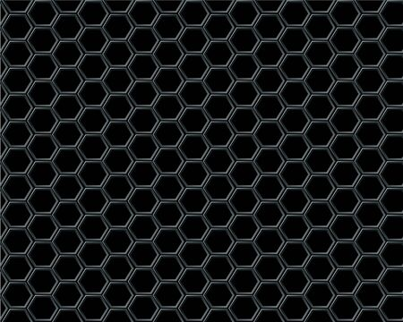 Black hexagon mesh on black background