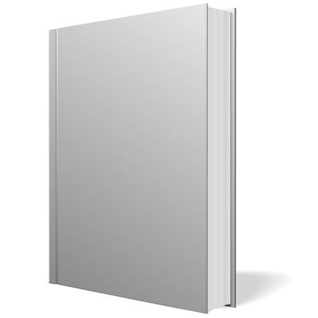 Gray notebook standing on white background illustration. Illustration