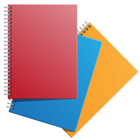 stackable: Note books stackable on white background illustration. Illustration