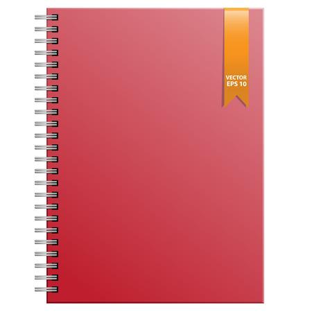 Rode lap op een witte achtergrond vector illustratie.