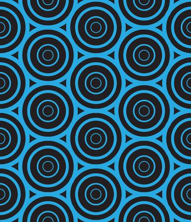 Modèle de cercle bleu sur noir sans soudure.