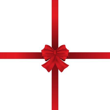 Rad bow ribbon center on white background design for gift vector illustration.