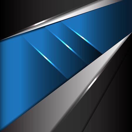 tech no: Abstract blue metal modern technology design background vector. Illustration