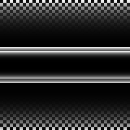 metal black: Abstract black silver label on checkered gradient pattern design racing background vector illustration.