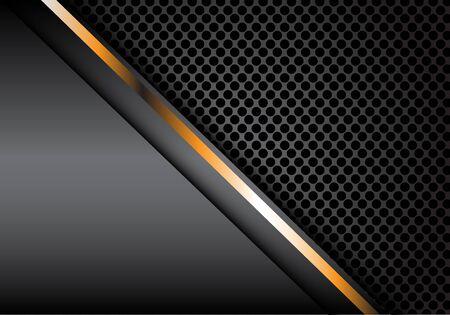 Cercle en métal gris ligne or abstraite maille design moderne luxe fond texture vector illustration. Vecteurs
