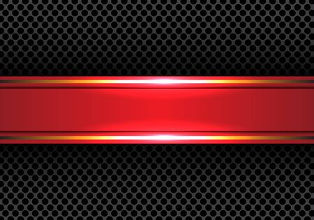 metal mesh: Abstract red gold line banner on circle mesh design modern luxury background texture vector illustration.