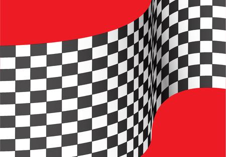 e3413c4cbf Checkered flag wave on red design for sport race championship winner  background vector illustration. Illustration