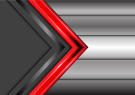 Abstract red gray arrow overlap on metal design modern futuristic creative background vector illustration. 矢量图像
