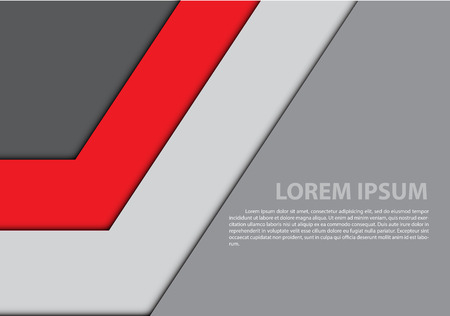 The abstract red gray arrow blank space sample text design modern futuristic creative background vector illustration. Illustration