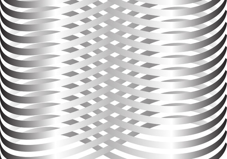 Abstract metal line woven pattern on white background vector illustration.