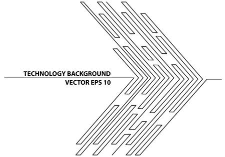 résumé ligne noire circuit de la technologie futuriste technologie de réseau internet conception graphique fond vecteur illustration