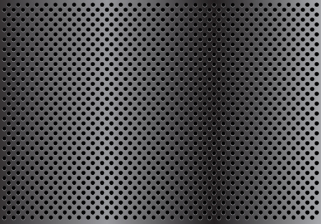black metallic background: Abstract dark gray circle mesh pattern background texture vector illustration.