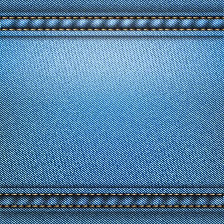 details: Blue jeans vintage material background texture vector illustration.