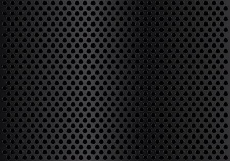 Abstrakte dunkle Metallkreismasche Hintergrund Textur Vektor-Illustration. Standard-Bild - 87041403