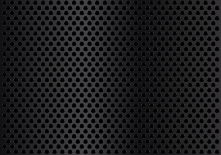 Abstract dark metal circle mesh background texture vector illustration.