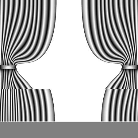 Gray curtain on white background vector illustration. Stock Vector - 88854936