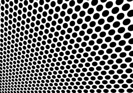 Abstract black circle mesh 3D on white background texture vector illustration.