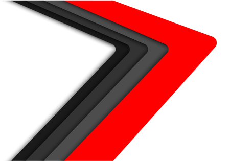 Abstract red gray arrow speed on white design modern futuristic background vector illustration.