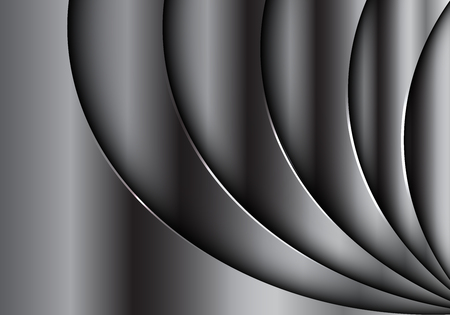 Moderne futuristische Luxushintergrundbeschaffenheits-Vektorillustration des abstrakten silbernen Designs der Kurvenüberlappung 3D.