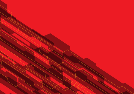 Abstract red tone circuit with blank design modern futuristic background vector illustration. Illustration