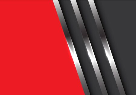 Abstract metal lines on gray with red blank space design modern futuristic background vector illustration.