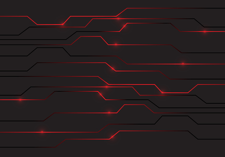 Abstract red circuit light technology power design modern futuristic background vector illustration. Illustration