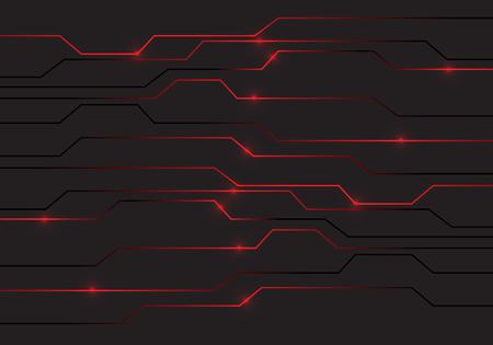 Streszczenie czerwony obwód światła technologii zasilania projekt nowoczesne futurystyczne tło wektor ilustracja.