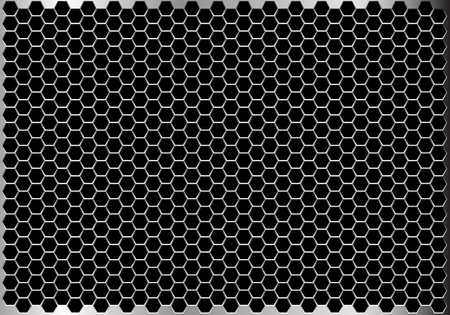 Hexagon metal mesh pattern design modern futuristic background texture vector illustration.