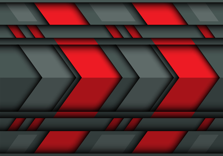 Abstract red gray arrow 3D pattern design modern futuristic technology background texture vector illustration.