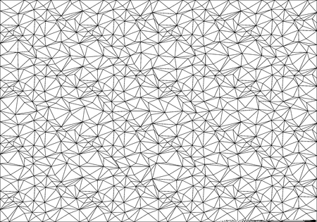 Abstract black line mesh polygon pattern on white background