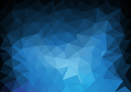 Abstract blue tone color polygon triangle background vector illustration.