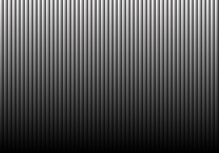 Gray shutter wall pattern with dim down light gradient black blank background vector illustration. Vectores