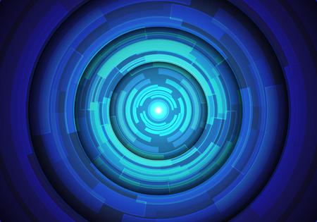 Abstract blue circle technology power energy light design modern futuristic background vector illustration.