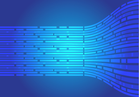 Abstract blue line flow side data light motion design modern futuristic background vector illustration.