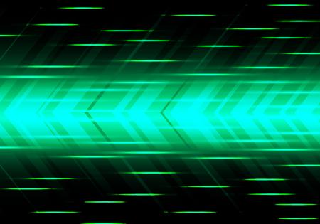 Abstract green arrow speed power technology futuristic modern background vector illustration.
