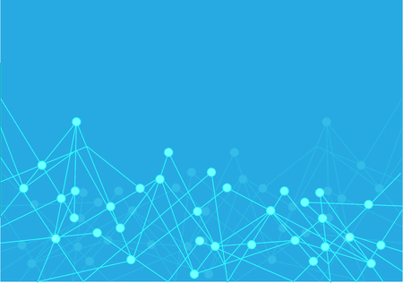 Abstract blue point polygon line internet connect network technology futuristic background vector illustration.