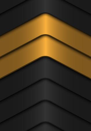 Abstract yellow dark grey arrow metallic design modern futuristic background vector illustration.