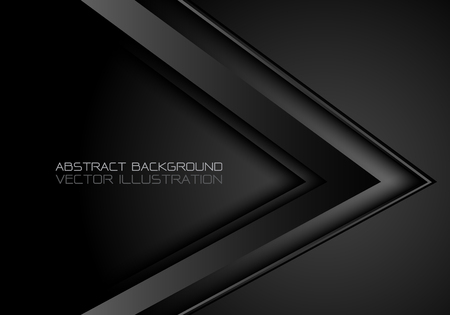 Abstract black metallic arrow direction design modern luxury futuristic background vector illustration. Foto de archivo - 105107700