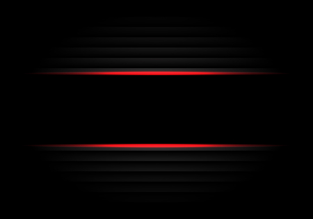 Abstract black banner red light design modern luxury futuristic background vector illustration.