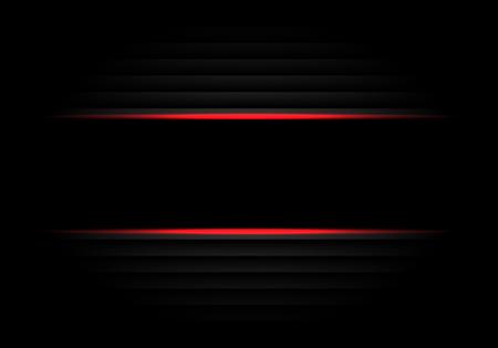 Abstract black banner red light design modern luxury futuristic background vector illustration.
