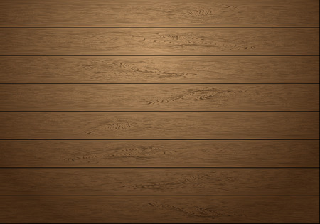 Realistic brown wood plank pattern with dim light background texture vector illustration.