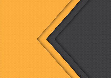 Abstract yellow grey arrow hexagon mesh pattern direction design modern futuristic background vector illustration. Vecteurs