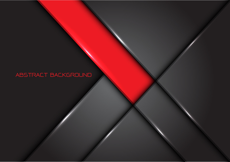 Abstract red grey line glossy metal design modern luxury futuristic background vector illustration.