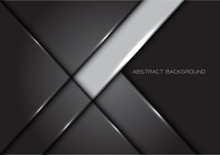 Abstract grey line glossy metal design modern luxury futuristic background vector illustration.