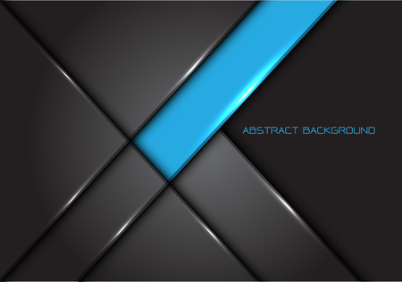 Abstract blue grey line glossy metal design modern luxury futuristic background vector illustration.
